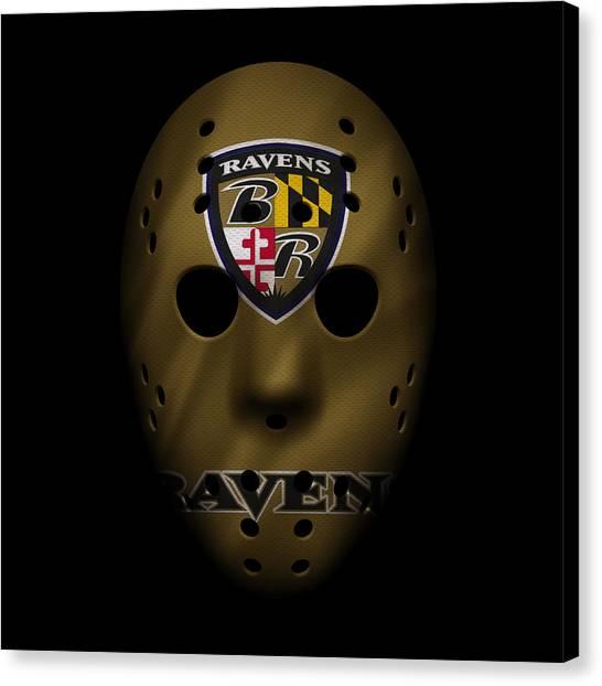 Baltimore Ravens Canvas Print - Ravens War Mask 2 by Joe Hamilton