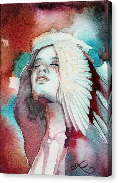 Warrior Goddess Canvas Print - Ravensara by Ragen Mendenhall