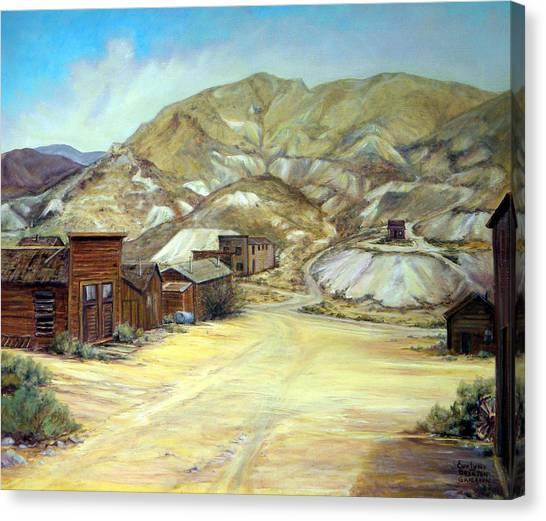 Rawhide Nevada Canvas Print by Evelyne Boynton Grierson