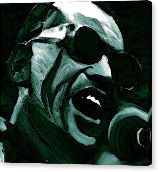 Rhythm Canvas Print - Ray Charles by Jeff DOttavio