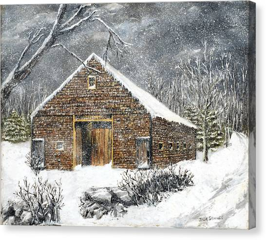 Canvas Print - Ray Emerson's Old Barn by Jack Skinner