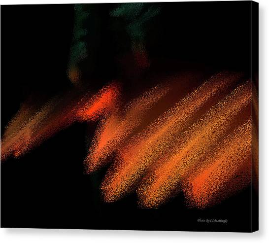 Rays In Orange And Gold Canvas Print