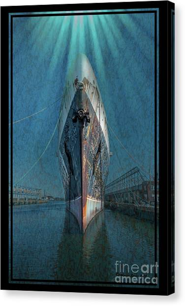 Cruise Ships Canvas Print - Rays Of Hope by Marvin Spates