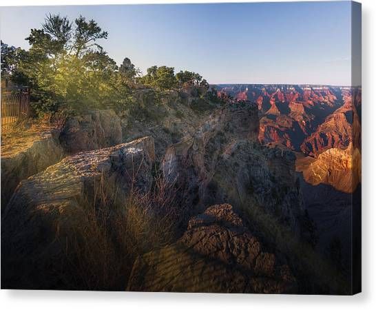 Rays Over The Canyon  Canvas Print