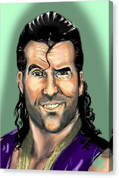 Wwe Canvas Print - Razor Ramon by Vinny John Usuriello