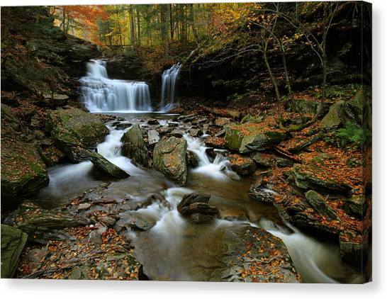 R.b. Ricketts Falls In Autumn Canvas Print