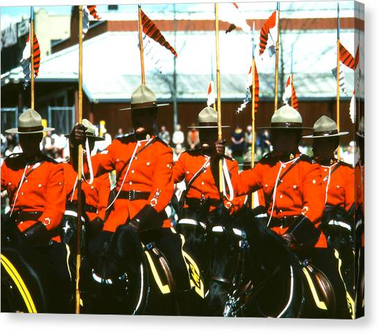 Rcmp Musical Ride Canvas Print