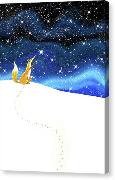 Whimsical Canvas Print - Reach  by Andrew Hitchen