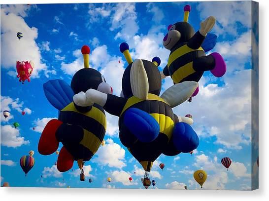 Hot Air Balloon Cheerleaders Canvas Print