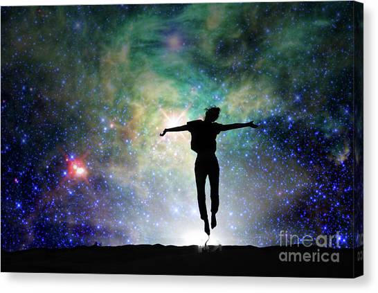 Feminist Canvas Print - Reach For The Stars by Delphimages Photo Creations
