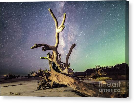 Carolina Hurricanes Canvas Print - Reaching For The Galaxy by Robert Loe