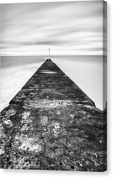 Minnis Canvas Print - Reaching Out To Sea by Nigel Jones