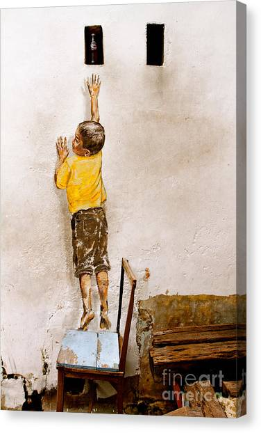 Reaching Up Canvas Print by Donald Chen