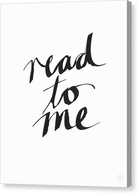 Libraries Canvas Print - Read To Me- Art By Linda Woods by Linda Woods