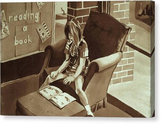 Reading Corner Canvas Print by Judy Swerlick