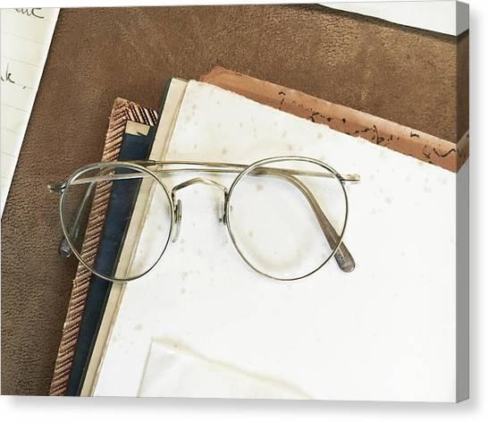 Academic Art Canvas Print - Reading Glasses by Tom Gowanlock