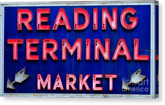 Vintage Railroad Canvas Print - Reading Terminal Market by Olivier Le Queinec