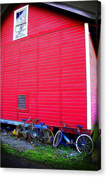 Ready For A Bike Ride Canvas Print by Karla DeCamp
