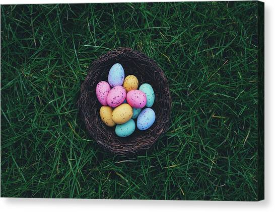 Easter Baskets Canvas Print - ready for Easter by Happy Home Artistry