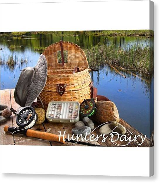 Fly Fishing Canvas Print - Ready For Fishing 🎣 #fish #fishing by Huntersdairy D