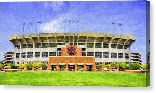 Auburn University Canvas Print - Ready For Gameday At Jordan Hare by JC Findley