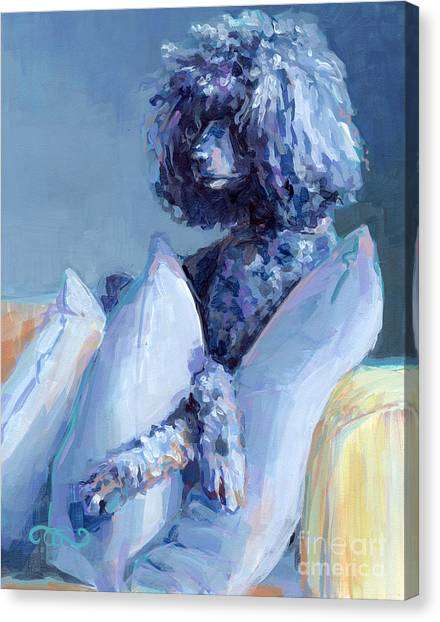 Poodles Canvas Print - Ready For Her Closeup by Kimberly Santini