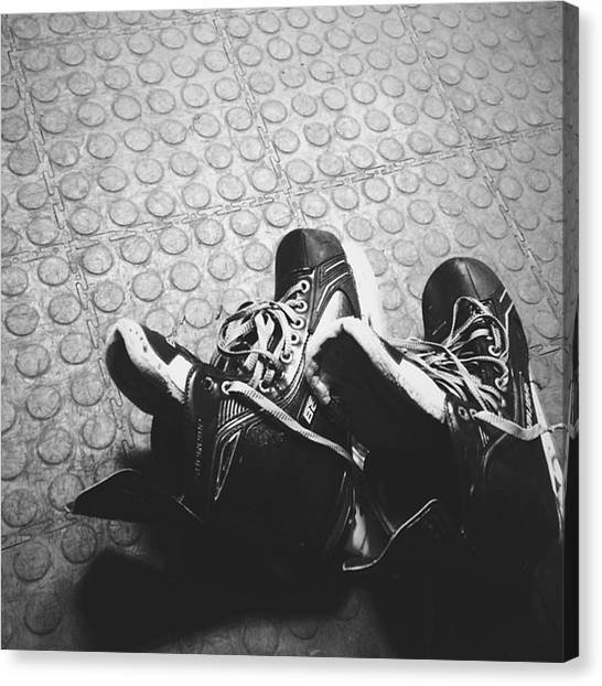 Hockey Teams Canvas Print - Ready. #skate #bauer #supreme #hockey by Vitaly Kushnir