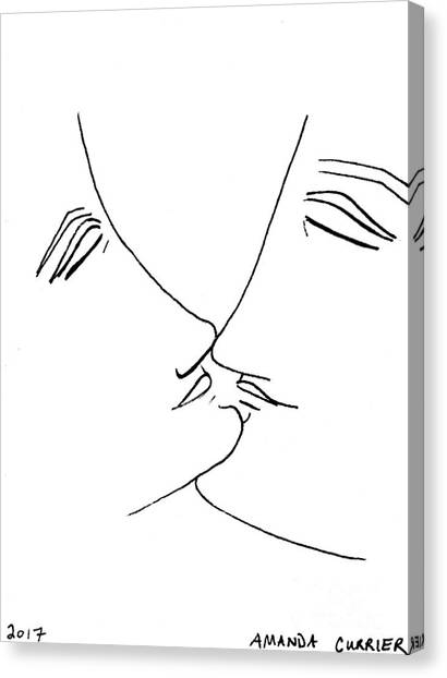 Ready To Kiss Canvas Print by Amanda Currier