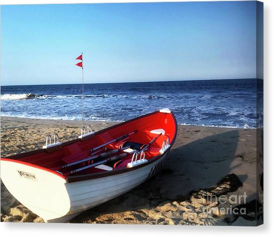 Canvas Print featuring the photograph Ready To Row by Rick Locke