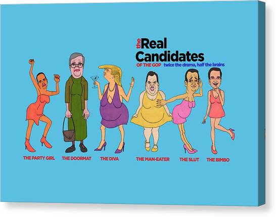 Ted Cruz Canvas Print - Real Candidates Of The Gop -clear Background Version 2 by Sean Corcoran