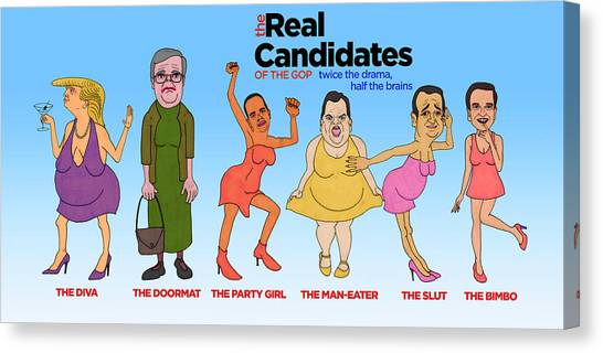 Ted Cruz Canvas Print - Real Candidates Of The Gop by Sean Corcoran