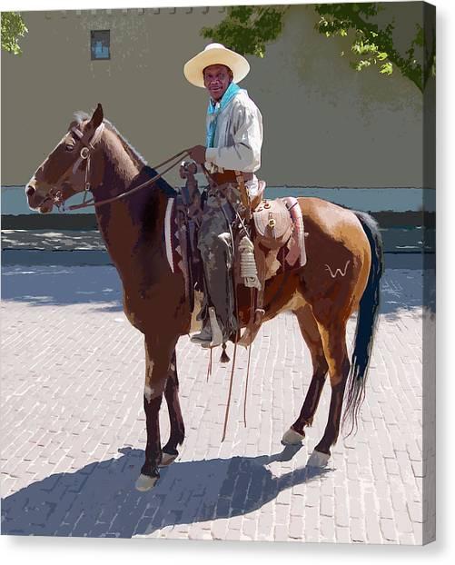 Real Cowboy Canvas Print