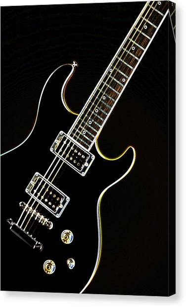 Real Electric Guitar Canvas Print