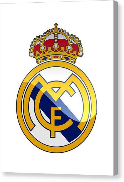 Real Madrid Canvas Print - Real Madrid Club De Futbol by David Linhart