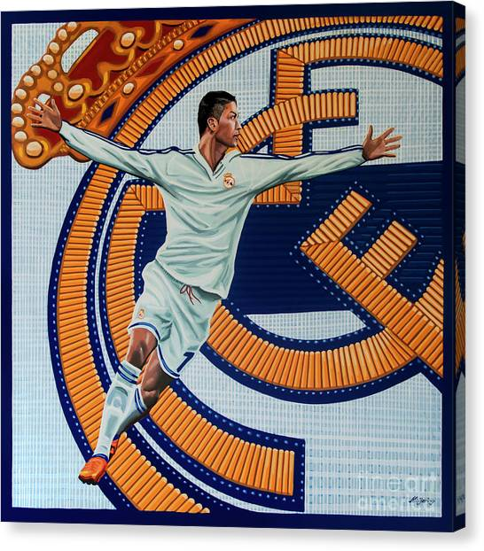 Soccer Teams Canvas Print - Real Madrid Painting by Paul Meijering