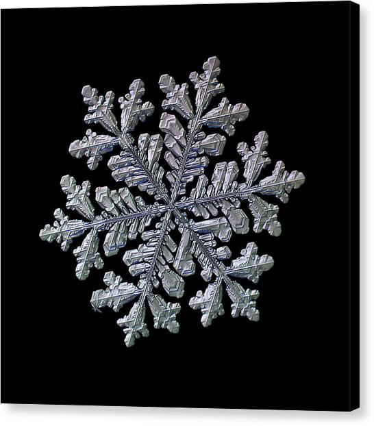 Real Snowflake - Hyperion Black Canvas Print