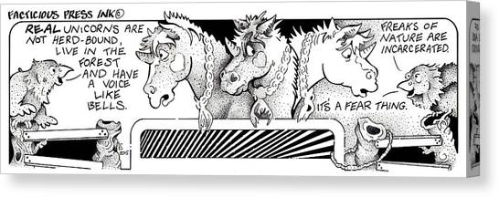 Real Unicorns Fpi Cartoon Canvas Print