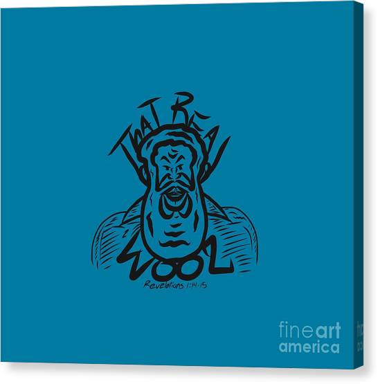 Real Wool Blue Canvas Print