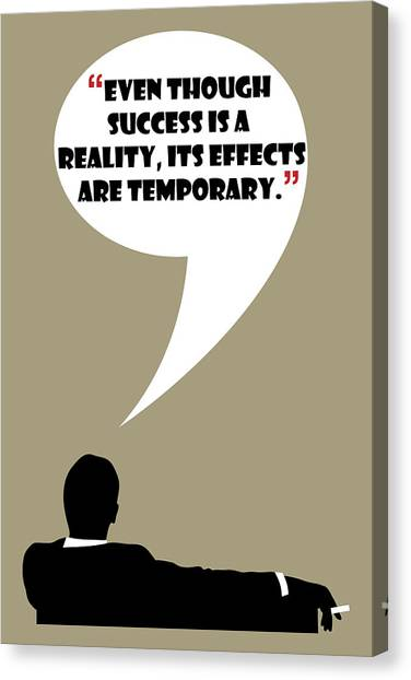 Reality Of Success - Mad Men Poster Don Draper Quote Canvas Print