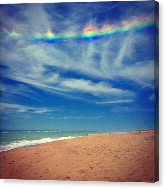 Rainbows Canvas Print - Signs From Above  by Kate Arsenault