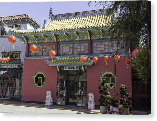 Chinese Restaurant Canvas Print - Realm Gift Boutique Chinatown by Teresa Mucha