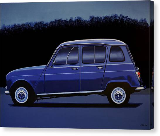 Old Trucks Canvas Print - Renault 4 1961 Painting by Paul Meijering