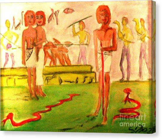 Reanimation Of Ancient Egypt Canvas Print by Stanley Morganstein