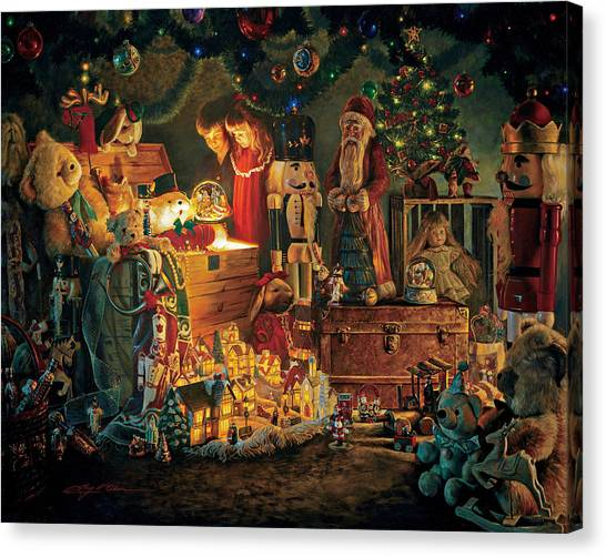 Villages Canvas Print - Reason For The Season by Greg Olsen