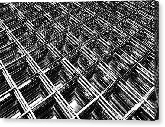 Rebar On Rebar - Industrial Abstract Canvas Print