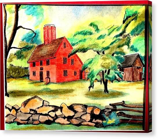 Rebecca Nurse Homestead Canvas Print