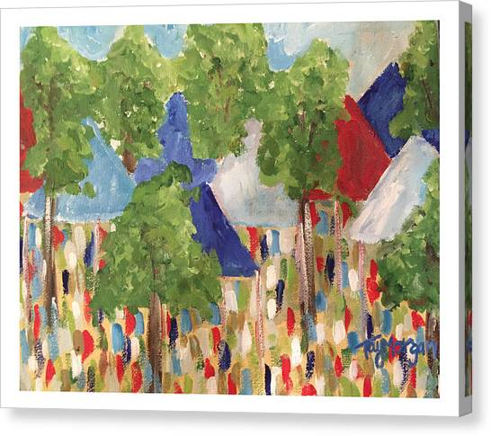 University Of Mississippi Ole Miss Canvas Print - Rebels In The Grove Tailgating  by Tay Morgan