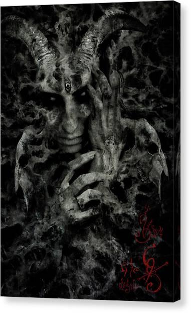 Satan Canvas Print - Rebirth by Cambion Art