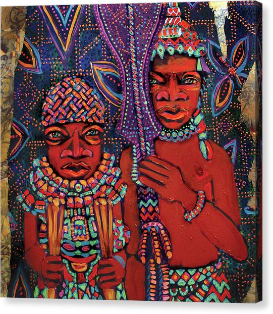 reCalling the Spirit Attendants with Paddles Canvas Print