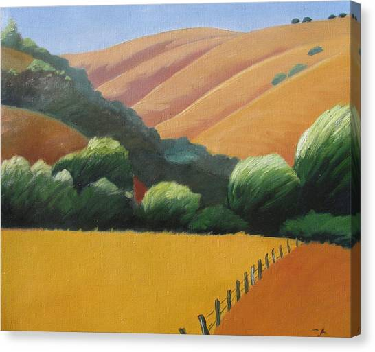 Receeding Hills Canvas Print